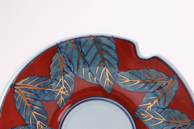 ☆弥源次窯 錦木の葉(赤)タッソーサーC/S 画像サブ12