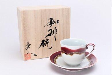 真右ェ門窯 シルクロード 新コーヒー碗(木箱付)