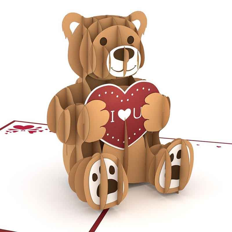 Love Bear 3D card<br>ラブベア