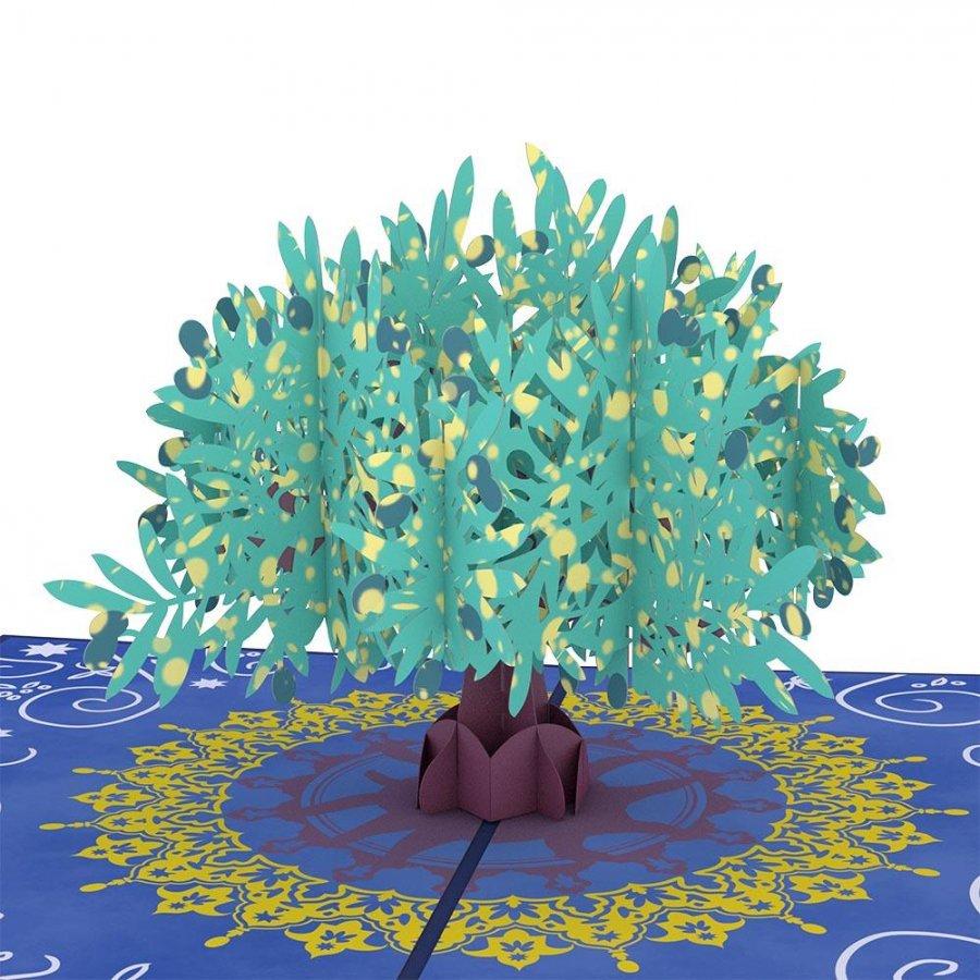 Olive Tree 3D card<br>オリーブの木