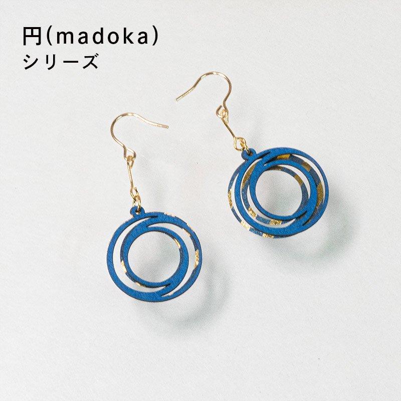 金箔/紙の耳飾り<br>『円(madoka)』