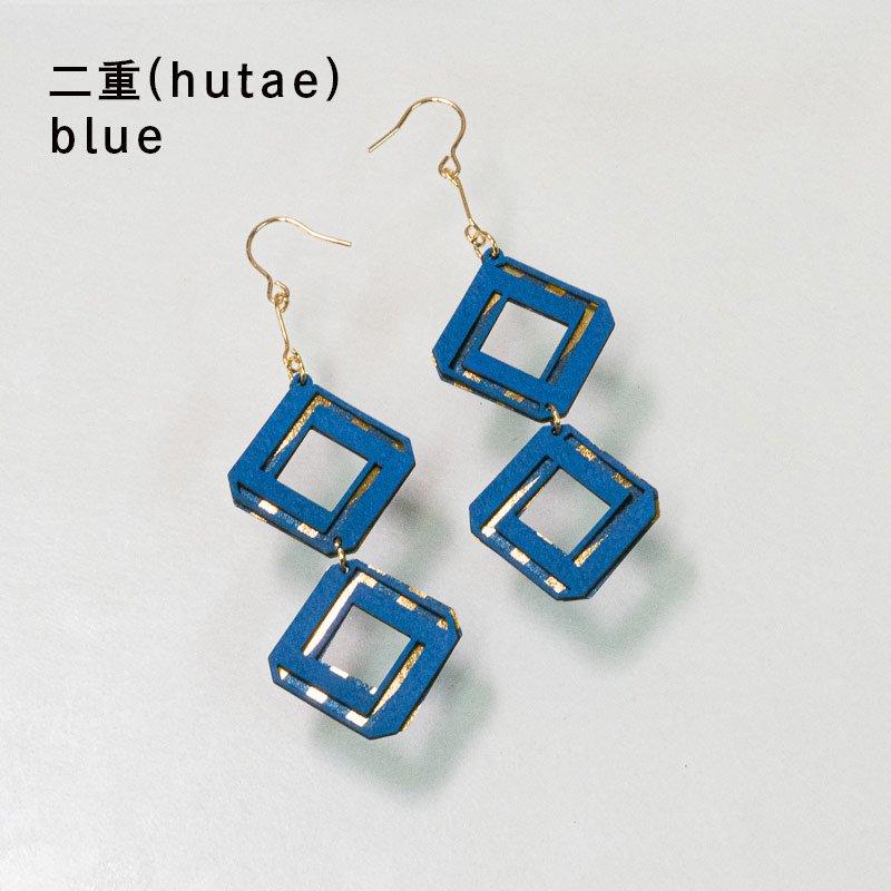 金箔/紙の耳飾り<br>『二重(hutae)』