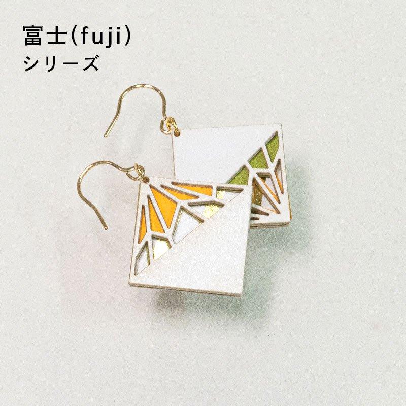 金箔/紙の耳飾り<br>『富士(fuji)』