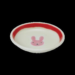 小皿うさぎ(赤)|虹の国