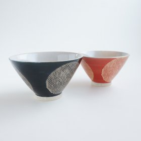 撥水丸紋|飯碗|勲山窯