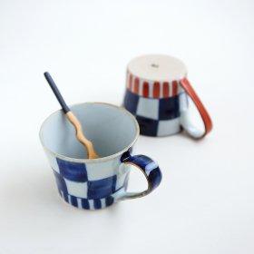 扇市松|マグカップ|敏彩窯
