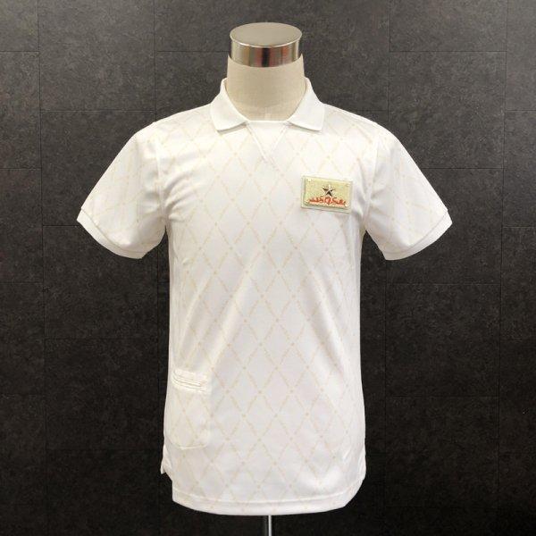 ガゼットポロシャツ オフホワイト