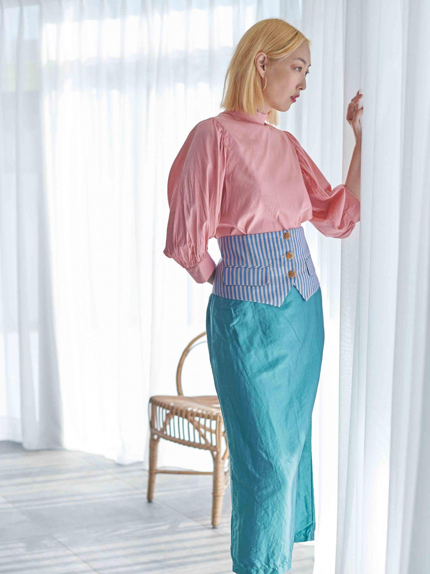 Pencil Skirt / original blue