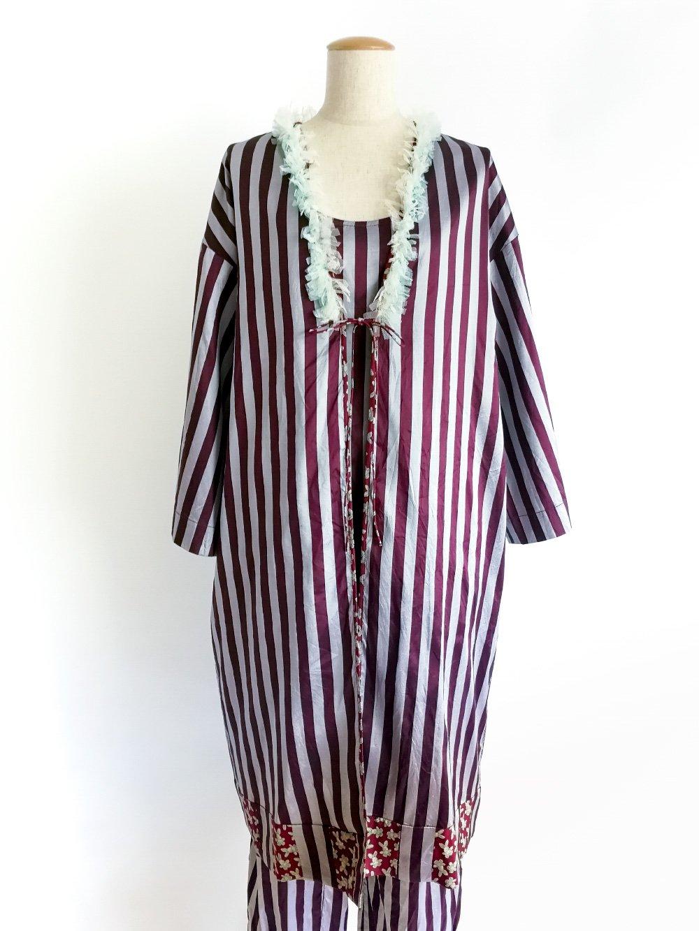 Patchwork Robe / original bordeaux