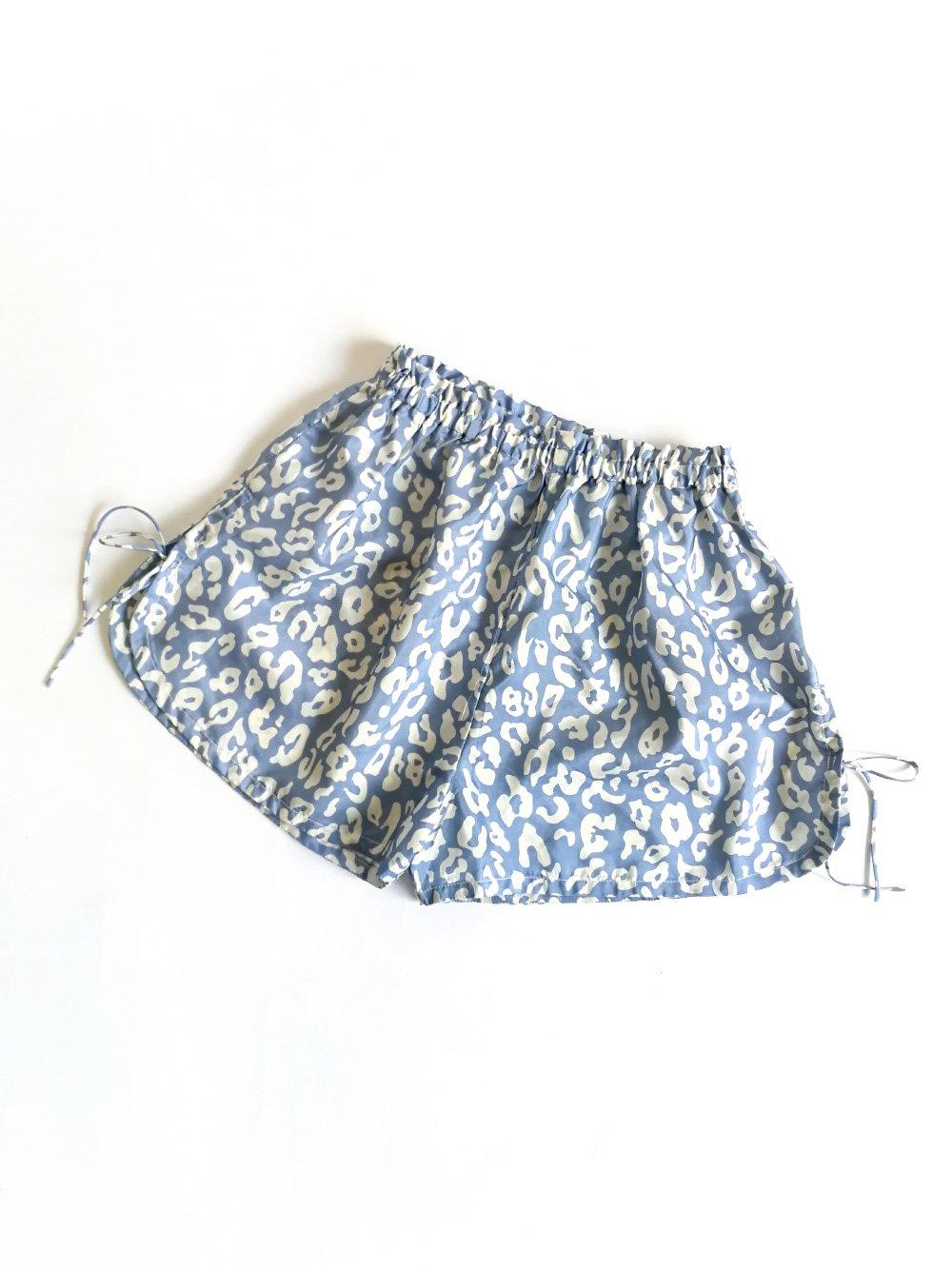 Shorts / leopard blue