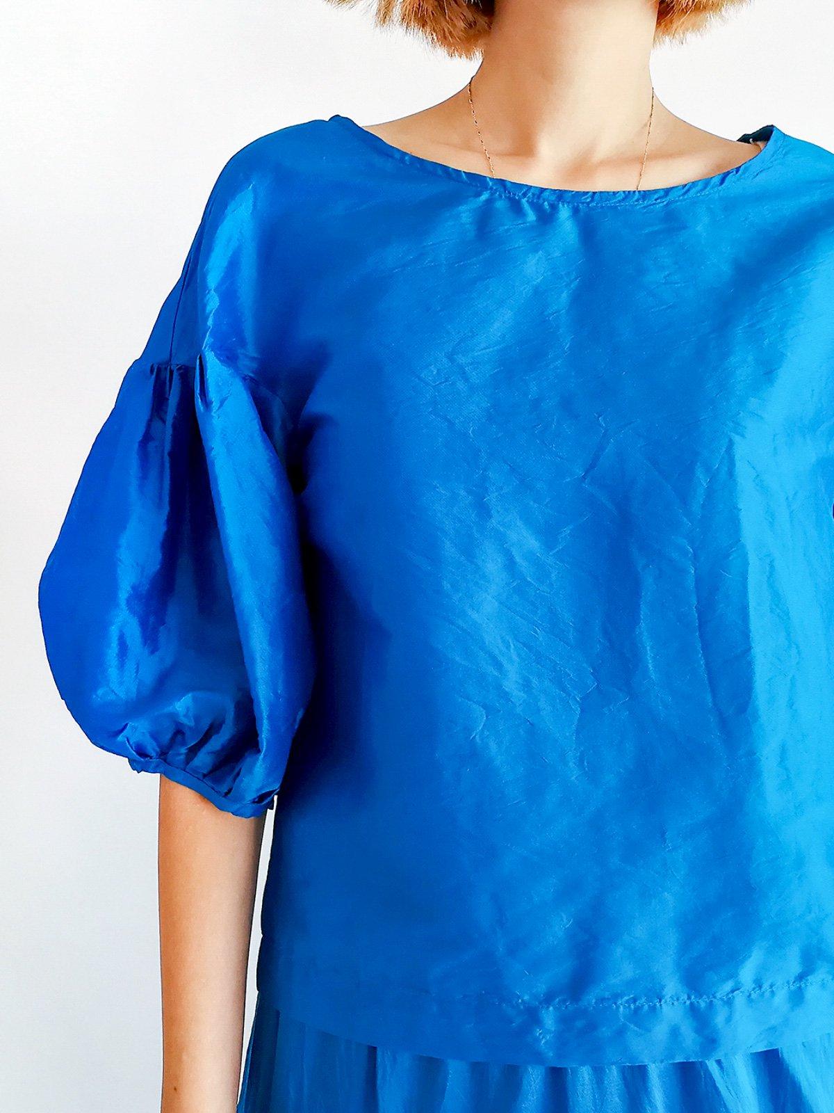 Puff Sleeve / turquoise