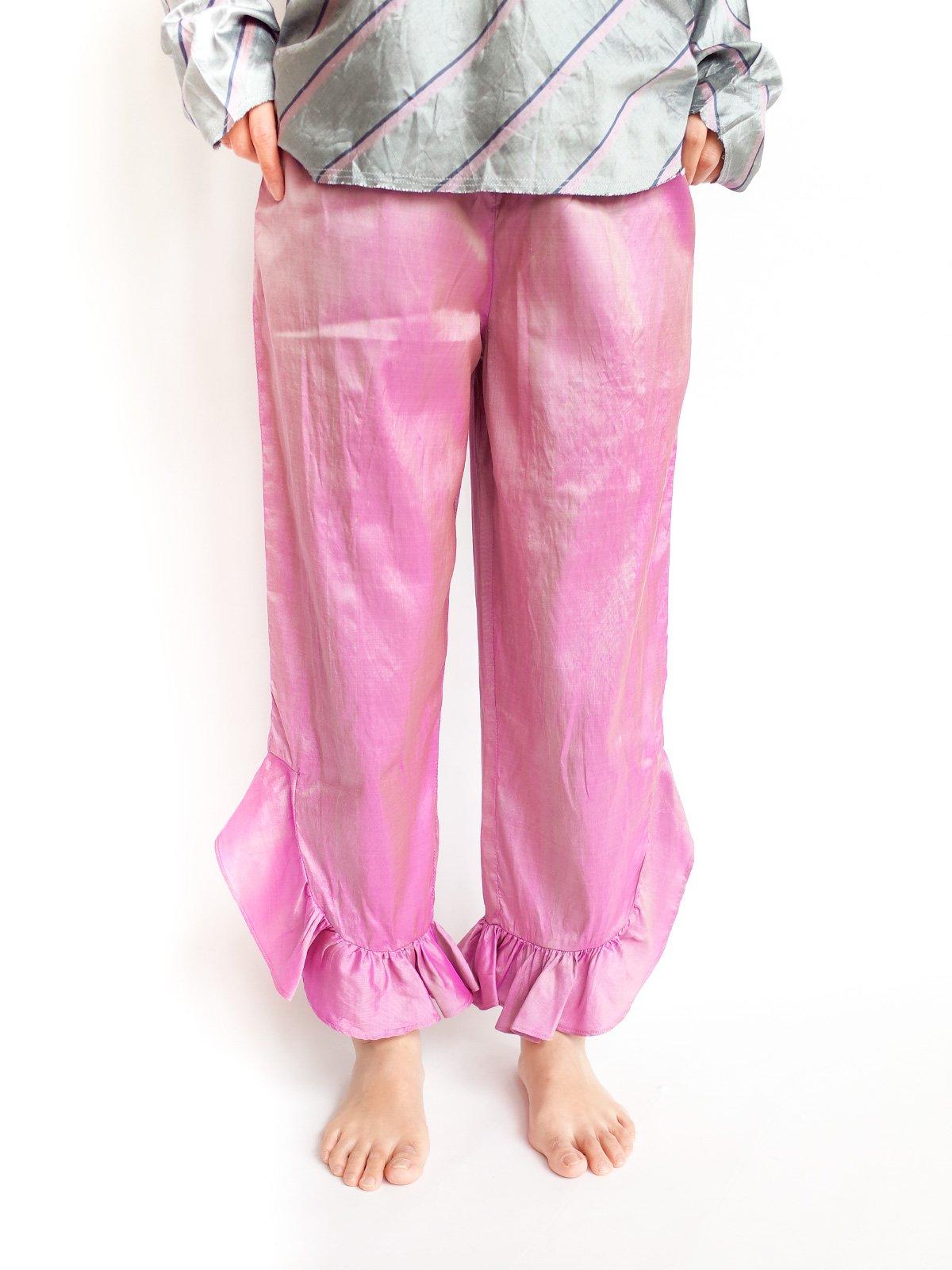 Fin Frill Pants / moss pink