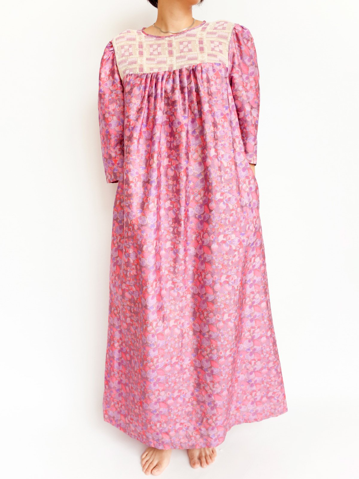 Long Dress / pink flower