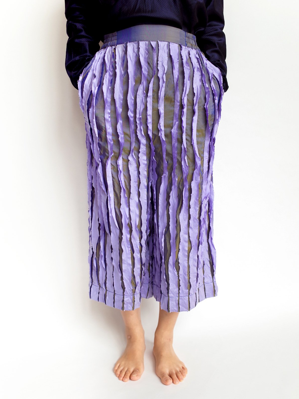 Ribbon Pants / lavender mix
