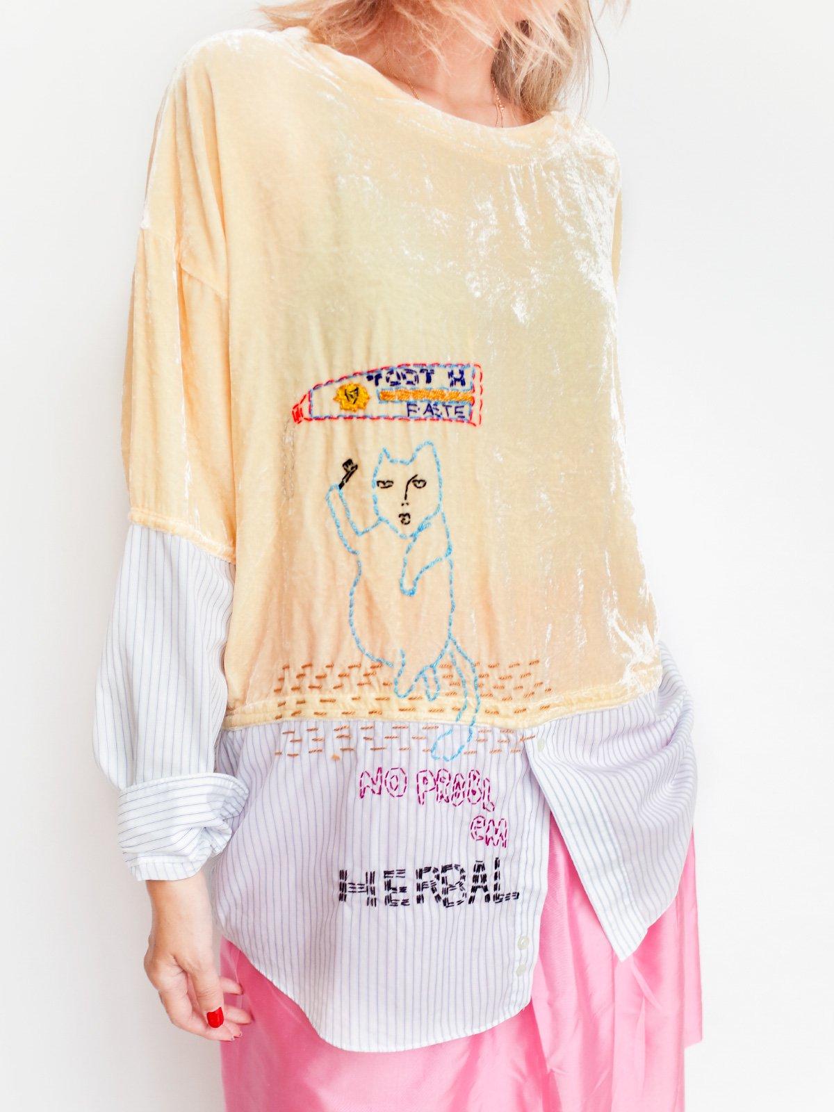 ari × mamarobot / Remake Velvet T + Shirts