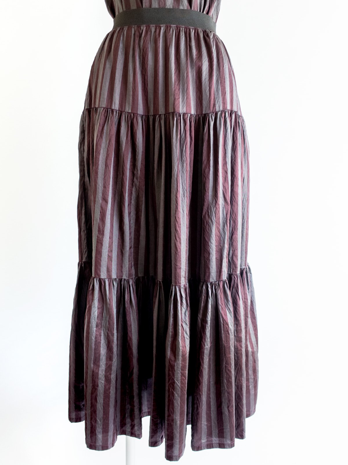 Tiered Skirt / stripe dye