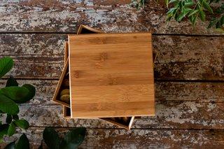 職人が丁寧に作った国産竹の重箱(小サイズ3段:ロゴなし)