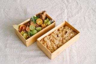 国産竹で作ったお弁当箱(長方形2段)