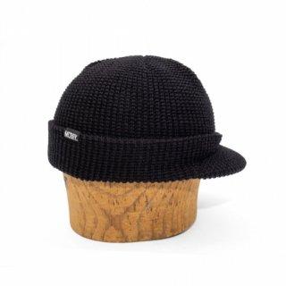 MACK BARRY M VISOR CAP BEANIE - BLACK