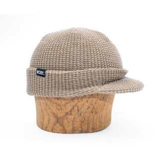 MACK BARRY M VISOR CAP BEANIE - BEIGE