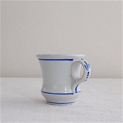 青い手描き模様のブリュロ