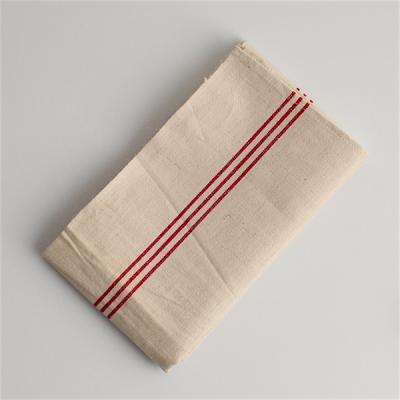 赤い3本ラインのリネントーション/Antique Linen