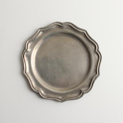 エタン 花リムプレート17.5cm/Etain Pewter