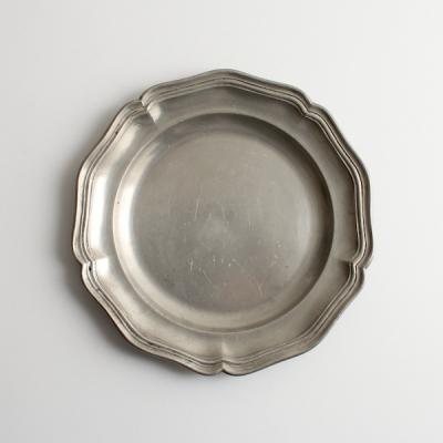 エタン 花リムプレート18.5cm/Etain Pewter