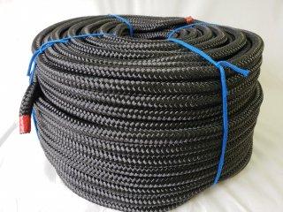 ポリエステルF16打ロープ黒16�100m巻