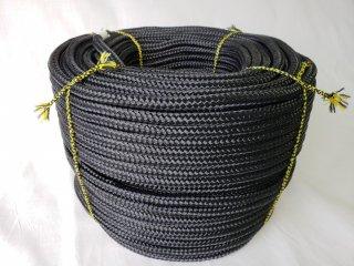 ポリエステルF16打ロープ黒8�