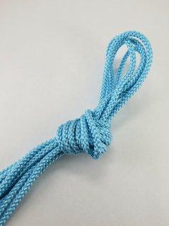 ポリエステルコード(江戸打ち紐)細ウォーターブルー巾2�×20m巻