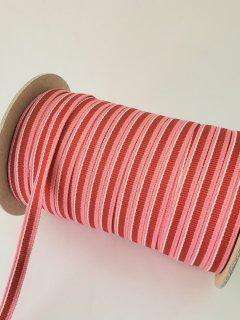 テープ紐ポリエステル赤×ピンク�約10�×100m巻