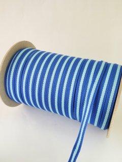 テープ紐ポリエステル青×水色�約10�×100m巻