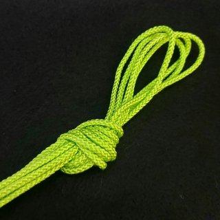 ポリエステルコード(江戸打ち紐)中シトラスグリーン巾3�×20m