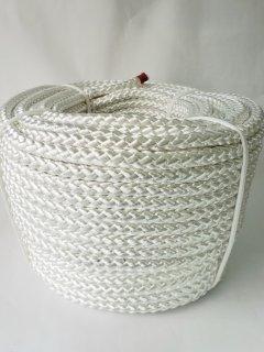 ポリエステルF8打ロープ白12�100m巻