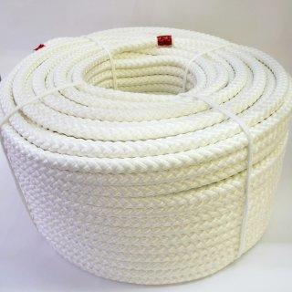 ポリエステルF8打ロープ白14�100m巻