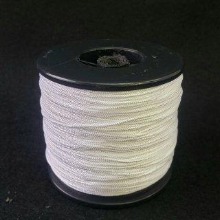 レーヨンコード人絹唐打ち紐 白 人五紐巾約1.2mm×100m巻