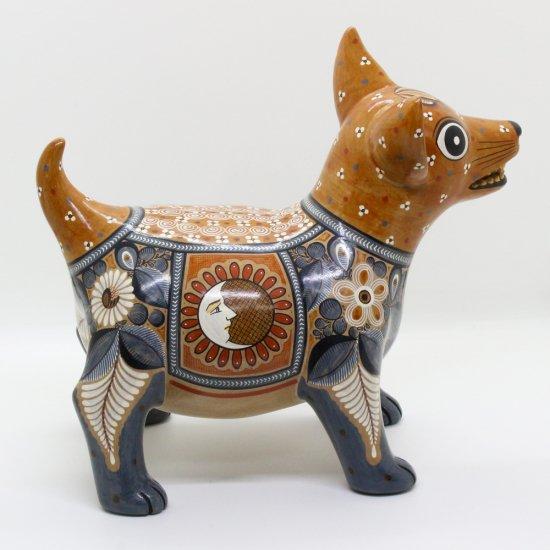 コリマ犬 陶器の置物 -太陽と月-【画像2】