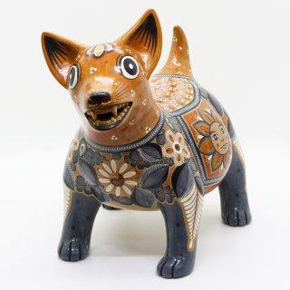 食品  コリマ犬 陶器の置物 -太陽と月-