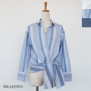 <img class='new_mark_img1' src='https://img.shop-pro.jp/img/new/icons20.gif' style='border:none;display:inline;margin:0px;padding:0px;width:auto;' />SALE [30%OFF] BRAHMIN リボン スキッパー ストレッチ 長袖 シャツ 返品不可