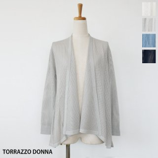 <img class='new_mark_img1' src='https://img.shop-pro.jp/img/new/icons20.gif' style='border:none;display:inline;margin:0px;padding:0px;width:auto;' />SALE [30%OFF] TORAZZO DONNA (トラッゾドンナ) 透かし編み 長袖 カーディガン 84-6900 返品不可