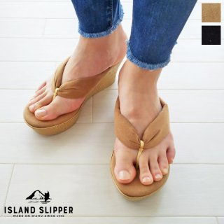 ISLAND SLIPPER (アイランドスリッパ) ウエッジソール トング サンダル UltraSuede Thong P7516U