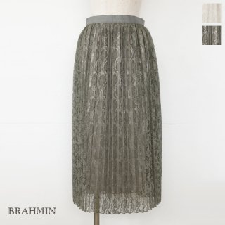 <img class='new_mark_img1' src='https://img.shop-pro.jp/img/new/icons20.gif' style='border:none;display:inline;margin:0px;padding:0px;width:auto;' />SALE [30%OFF] BRAHMIN (ブラーミン) スカート レース プリーツ ウエストゴム ロング B25104 返品不可