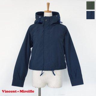 Vincent et Mireille (ヴァンソンエミレイユ) ショート ジャケット 裏ボア フード付き VM192SR25122