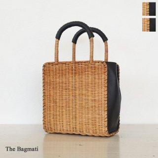 The Bagmati (ザバクマティ) ウィッカー レザー かごバッグ バスケットバッグ スクエア型 BBK18-02