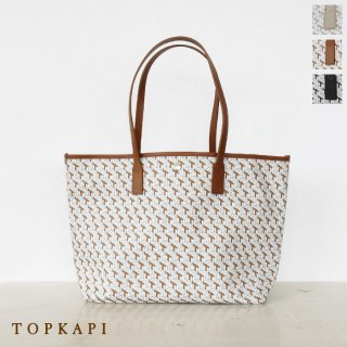 TOPKAPI (トプカピ) A4 トートバッグ PVC レザー Tブロック柄 503-06-41022