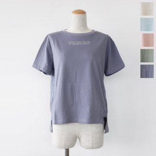 SALE [30%OFF] BRAHMIN (ブラーミン) ロゴ Tシャツ コットン 半袖 サイドスリット FOOD TEXTILE B86309 返品不可
