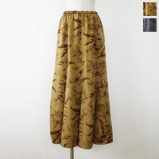 SALE [30%OFF] anana (アナナ) ロング スカート フラワープリント ウエストゴム ウォッシャブル n20a813 返品不可