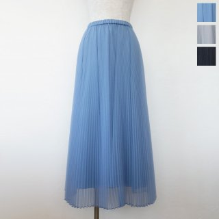SALE [30%OFF] Dignite collier (ディニテコリエ) プリーツ スカート オーガンジー ロング ウエストゴム TK-809534 返品不可