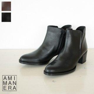 AMIMANERA (アミマネラ) レザー ショート ブーツ STYLE 1130